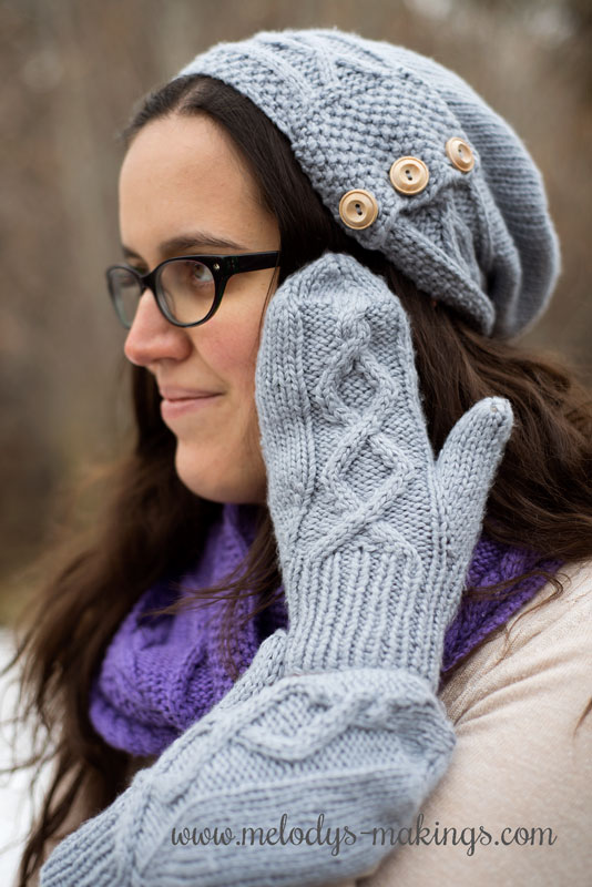 Thank you for joining in the tough conversation about depression happening on my blog this month!  Enjoy my Jennika knit mittens pattern free to say thanks!