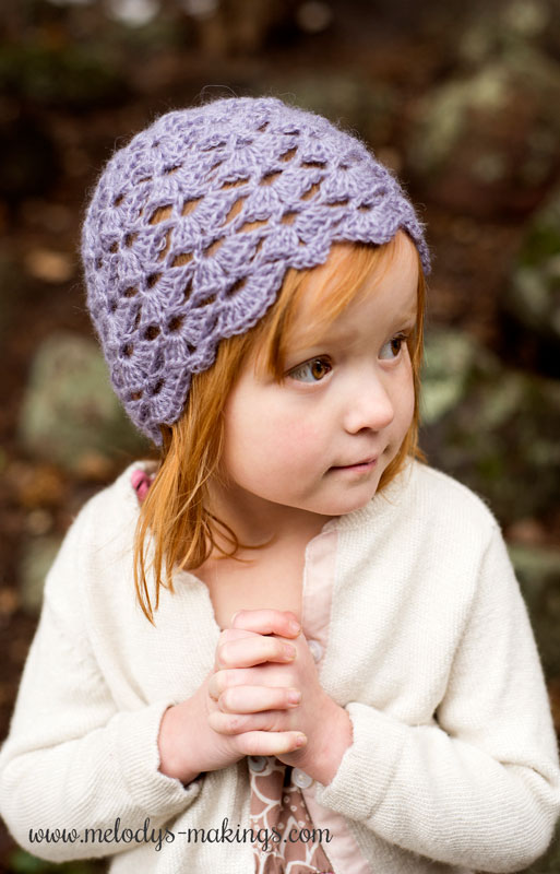 lacy crochet hat