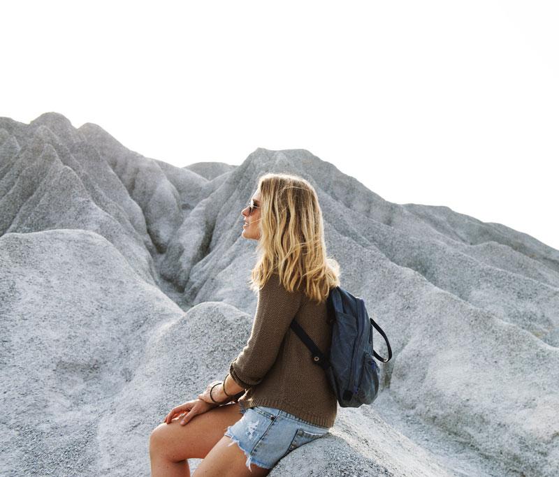 woman on climb