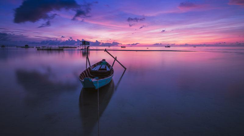 boat on still water