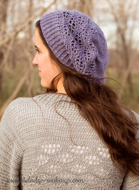 This cute slouchy hat crochet pattern features beautiful lace and a loose lightweight design.  Free pattern features four sizes Toddler through Adult.