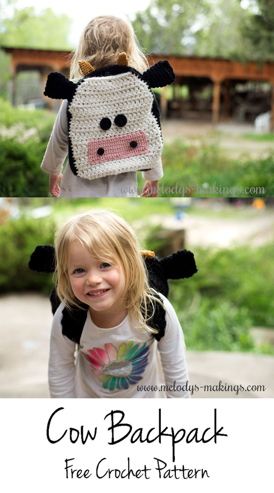 Free Cow Backpack Crochet Pattern