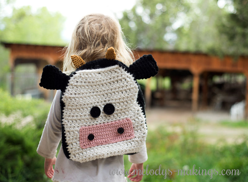 Crochet Cow Backpack Pattern