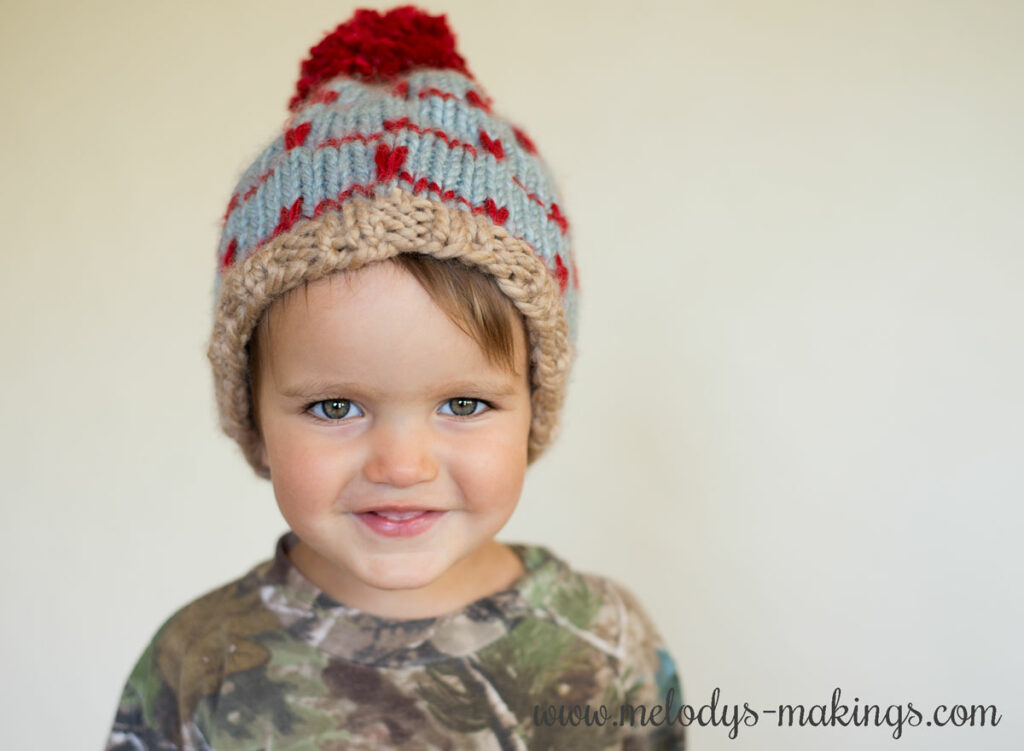 Peaks and Valleys Knit Hat
