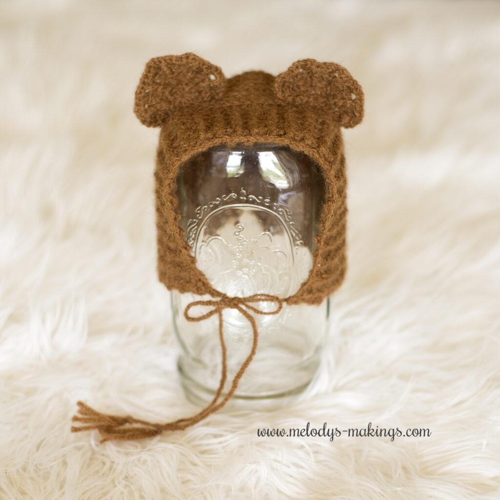 Crochet Bear Bonnet
