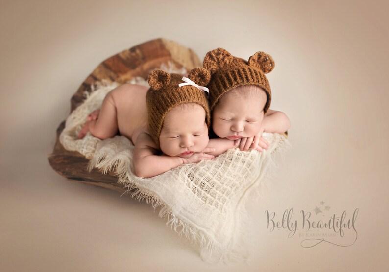 Baby Bear Crochet Bonnet